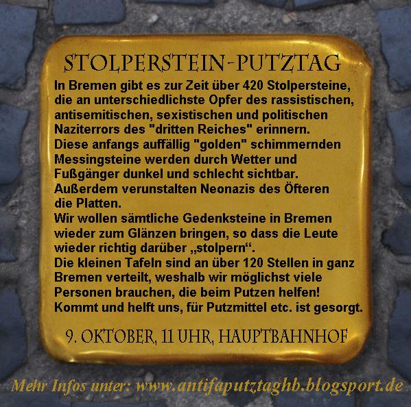 Stolperstein Flyer